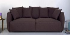 Marcelo Three Seater Sofa in Java Brown Colour