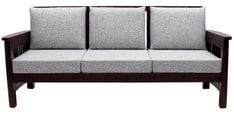 Mariana Teak Wood Three Seater Sofa in Fresh Walnut Finish