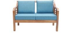 Mariana Teak Wood Two Seater Sofa in Natural Teak Finish