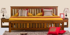 Marko King Size Bed in Honey Finish