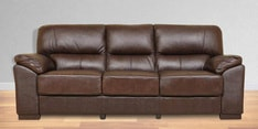 Martin Leather Three Seater Sofa in Brown Colour