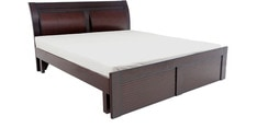 Matty King size Bed in Brown colour