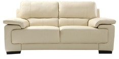 Maximus Leatherette Collection -Two Seater in Cream Coloure