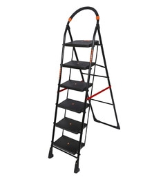 Magna Homewares Premium Heavy Folding Ladder With Wide Steps POLLUX 6 Steps 6.1 Ft Ladder