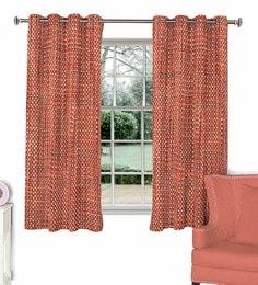 Maroon Poly Viscose Window Curtain