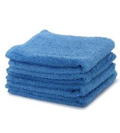 Blue 100% Cotton 12 X 12 Inch Carnival Prime Face Towel Set - Set Of 4
