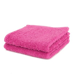 Maspar Pink 100% Cotton 12 X 12 Inch Waltz Bequiling Print Face Towel Set - Set Of 4