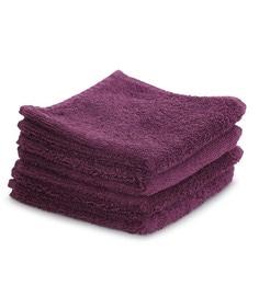 Maspar Purple 100% Cotton 12 X 12 Inch Carnival Prime Face Towel Set - Set Of 4