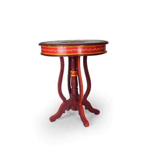 Rangilo Rajasthan Mango Wood Round Table