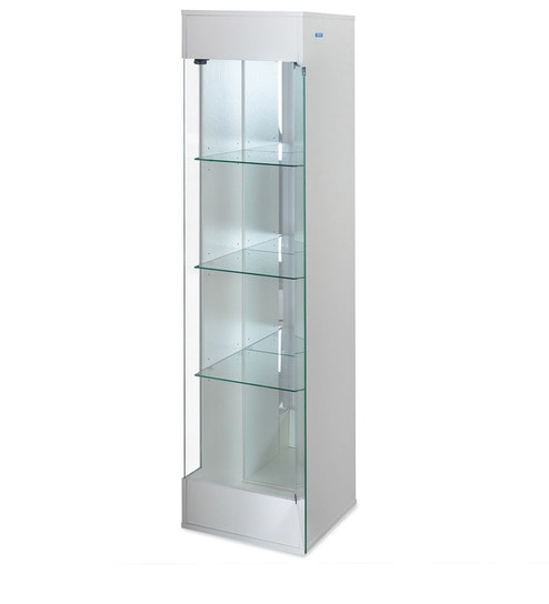 Macario Display Unit Cum Book Case In White Colour By Nilkamal