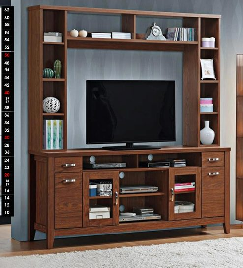 Buy Madison Wall TV Unit in Dark Brown Finish by Evok Online ...