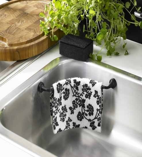 Magnetic Dish Cloth Holder Flexible Black Grey White