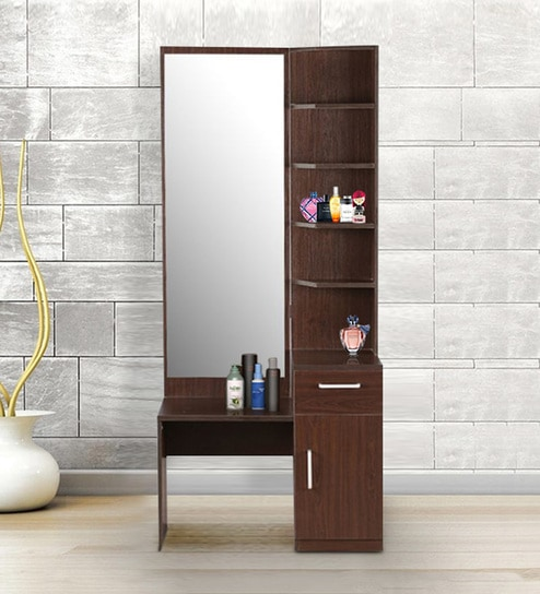 Buy Magnum Dressing Table With Mirror In Vermount Finish By Hometown Online Modern Dressing Tables Dressing Tables Furniture Pepperfry Product