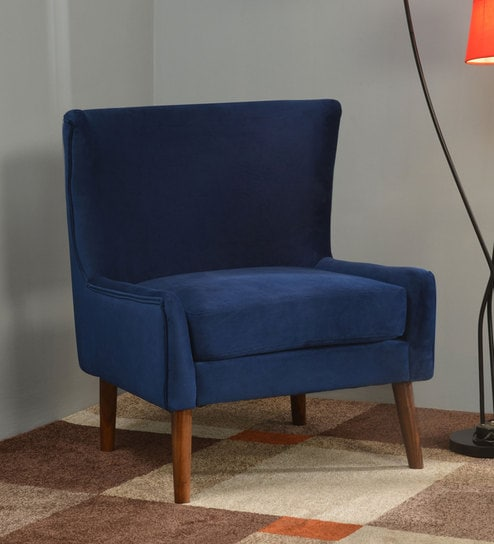 Cool Maisie Solid Wood Slipper Chair In Royal Blue Colour By Home Gamerscity Chair Design For Home Gamerscityorg