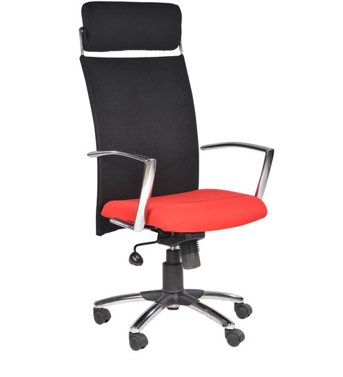 buy malaysia high back office chair red in red colour by chromecraft