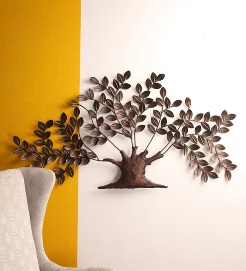 Malhar Brown And Green Iron Tree Wall Decor