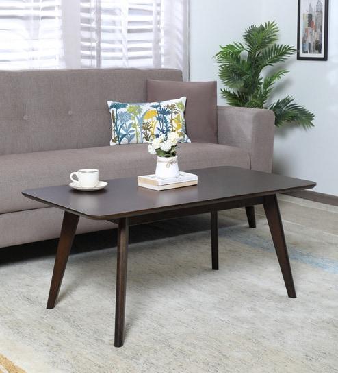 Manuela Coffee Table In Dark Walnut Finish By Casacraft