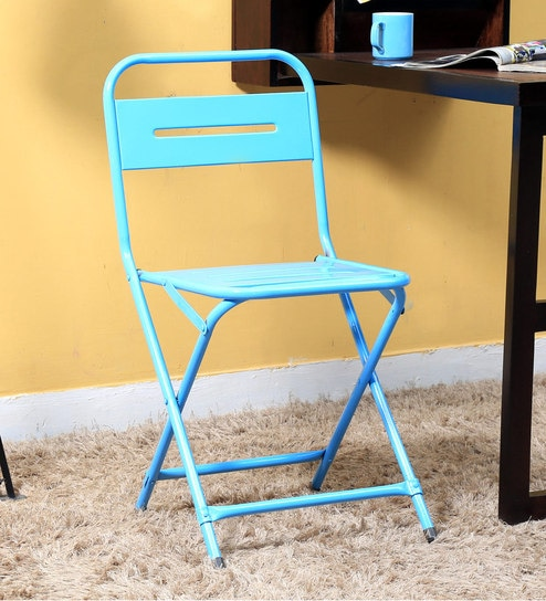Marandoo Grunge Blue Outdoor Folding Chair by Bohemiana