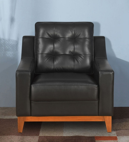 Marissa 1 Seater Sofa In Black Colour By Home