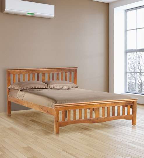 58b7a260b9f Buy Marko King Size Bed in Honey Finish by Evok Online ...