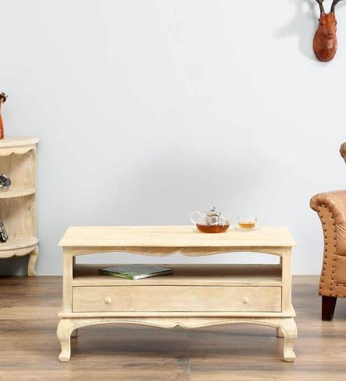 Marlesford Coffee Table In Lime Wash Finish By Amberville