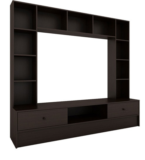 Buy Mars Wall Unit in Wenge Finish by Housefull Online - Modern ...