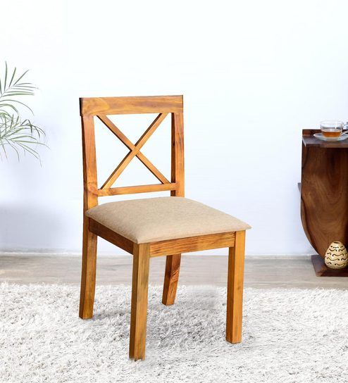 Maryland Pine Chair in Teak Finish by Inliving  sc 1 st  Pepperfry & Buy Maryland Pine Chair in Teak Finish by Inliving Online ...