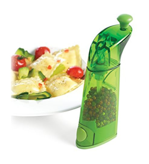 Mastrad Transparent Green Cylindrical Pepper Mill