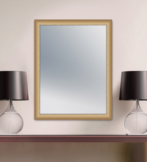 Corin Rectangular Wall Mirror In Metallic Frame By Elegant Arts Frames