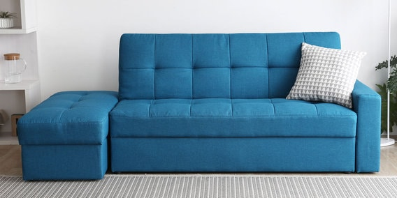 Stupendous Maceio Sofa Cum Bed In Blue Colour By Casacraft Dailytribune Chair Design For Home Dailytribuneorg