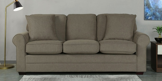 Madeira Three Seater Sofa in Sandy Brown Colour by CasaCraft