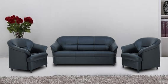 Buy Madisson 3 1 1 Seater Sofa Set In Black Colour