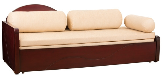 Buy Maharaja Sofa Cum Bed With Storage In Light Blonde Colour By