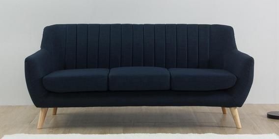 Managua Three Seater Sofa in Blue Colour by CasaCraft