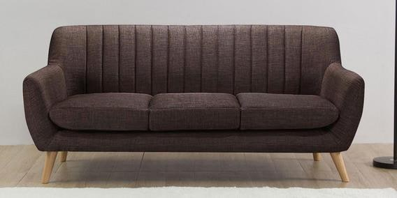 Managua Three Seater Sofa in Chestnut Brown Colour by CasaCraft