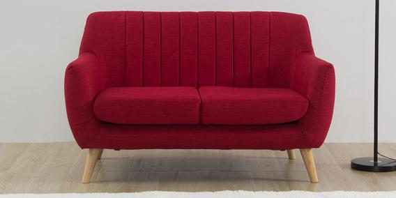 Managua Two Seater Sofa In Red Colour By Casacraft