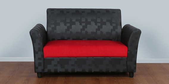 Manchester Two Seater Sofa In Red Black Colour By Cloud 9