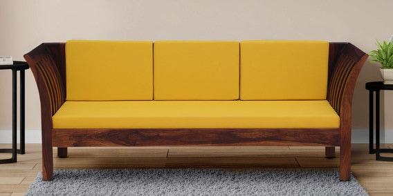 Awesome Margot Solid Wood 3 Seater Sofa In Honey Oak Finish By Woodsworth Ibusinesslaw Wood Chair Design Ideas Ibusinesslaworg