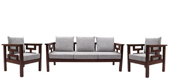Mariana Teak Wood Sofa Set 3 Seater 1 In