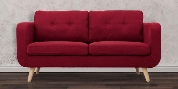 Maribel Two Seater Sofa Love Seat In Red Colour By Casacraft