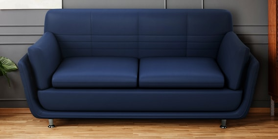 Buy Marina 3 Seater Sofa In Blue Colour By Godrej Interio Online - Contemporary Sofa Sets - Sofa Sets - Furniture - Pepperfry Product