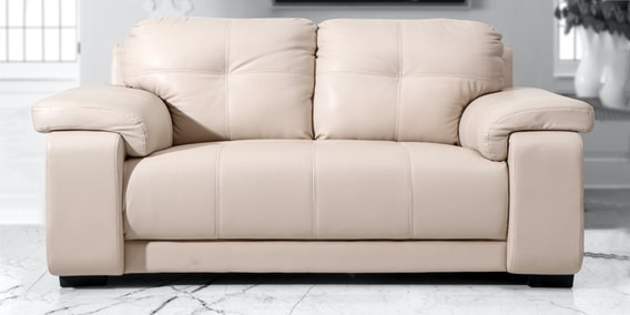 2 Seater Sofa In Beige Colour By Evok