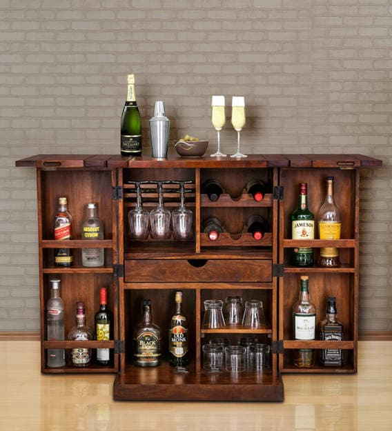 Malta Small Bar Cabinet By Inliving, Small Bar Furniture