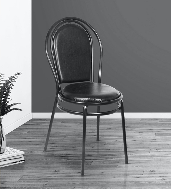 Buy Mazda Dining Chair In Black Leatherette By Confortofurnishing Online Cafe Chairs Chairs Furniture Pepperfry Product