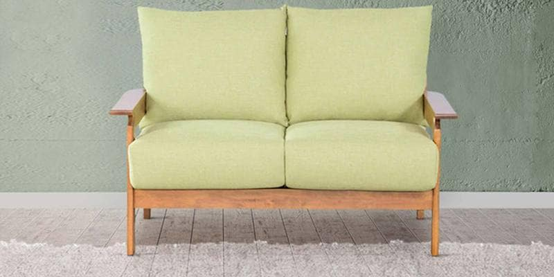 Manaus Two Seater Sofa in Green Color by CasaCraft