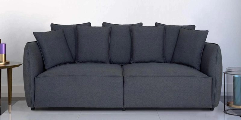 Marcelo Three Seater Sofa in Graphite Grey Colour by CasaCraft