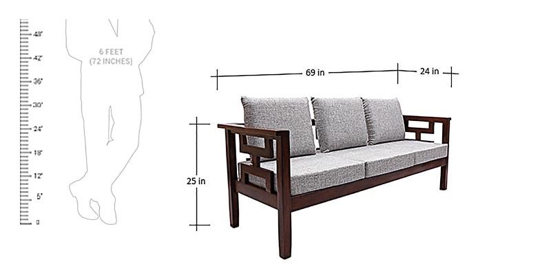 Buy Mariana Teak Wood Sofa Set 3 Seater 1 Seater 1