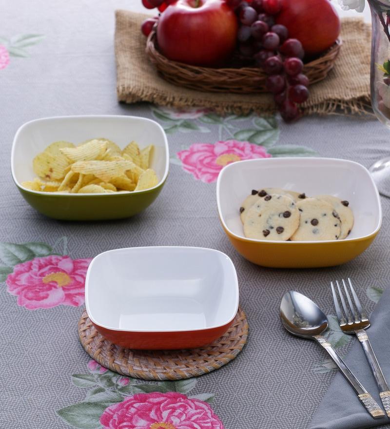 Machi Multicolour Melamine Serving Bowl - Set of 4