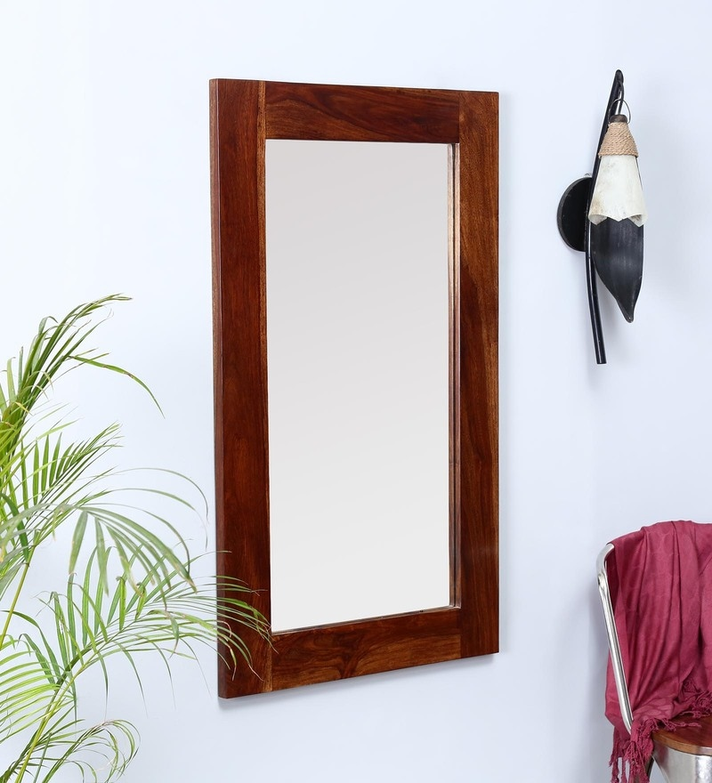 Brown Sheesham Wood Mirror by Made Wood