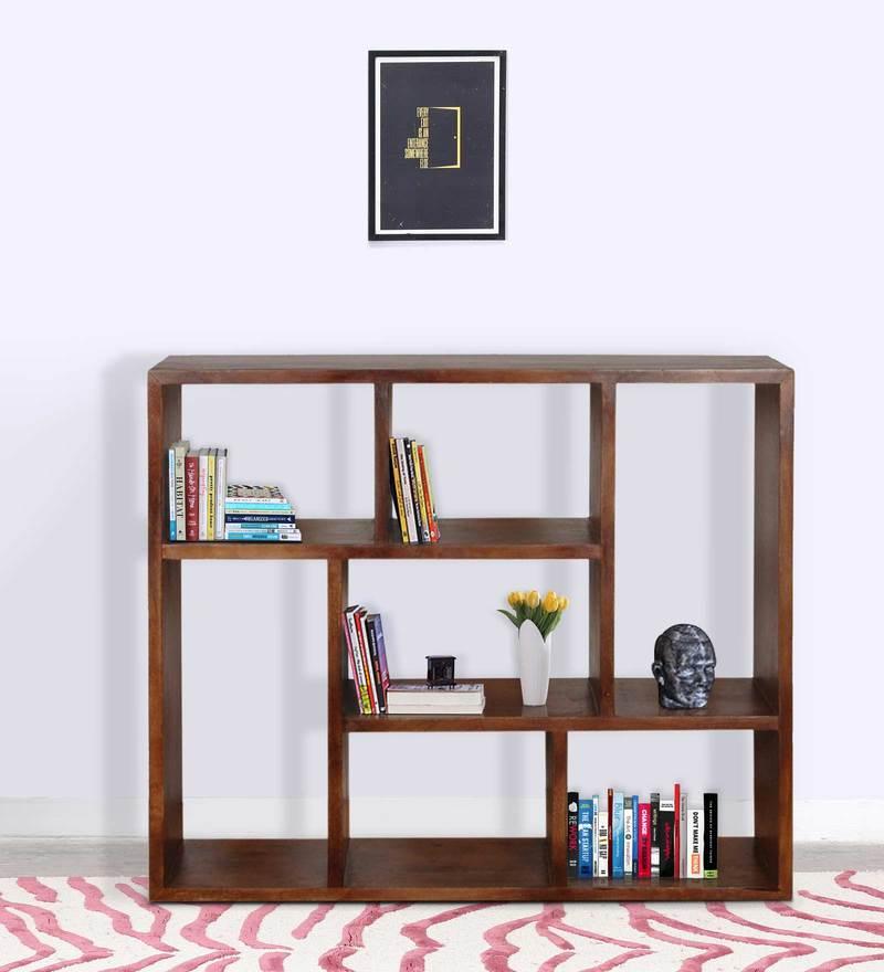 Trego Segmented Book Shelf in Provincial Teak Finish by Woodsworth